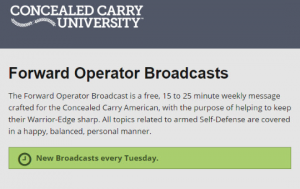 Concealed Carry University